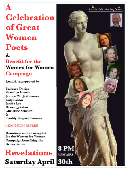 Poster showing the Venus of Milo and participants of this reading